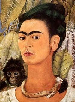 autoritratto frida con scimmia1938